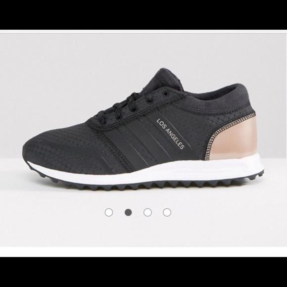 Adidas Originals Black And Copper L.A Sneakers